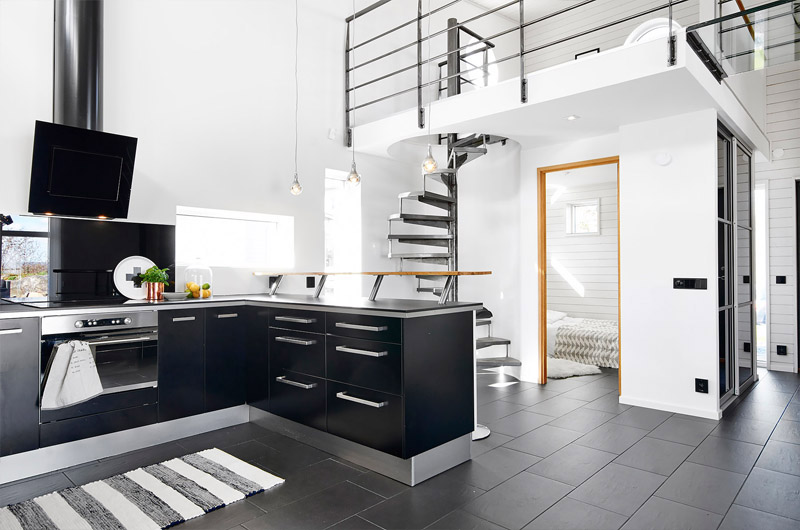 modern-black-and-white-kitchen