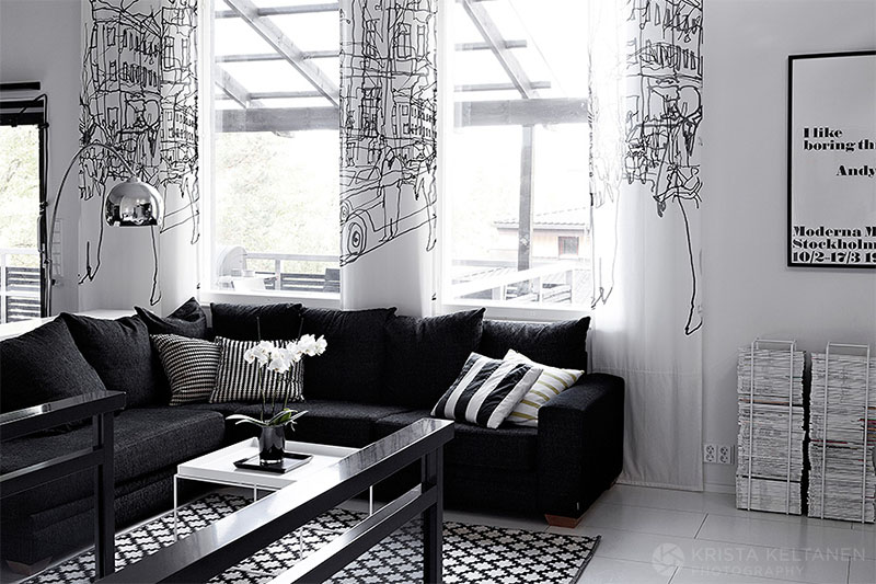 ... Black And White Interior Design Home 4 ...