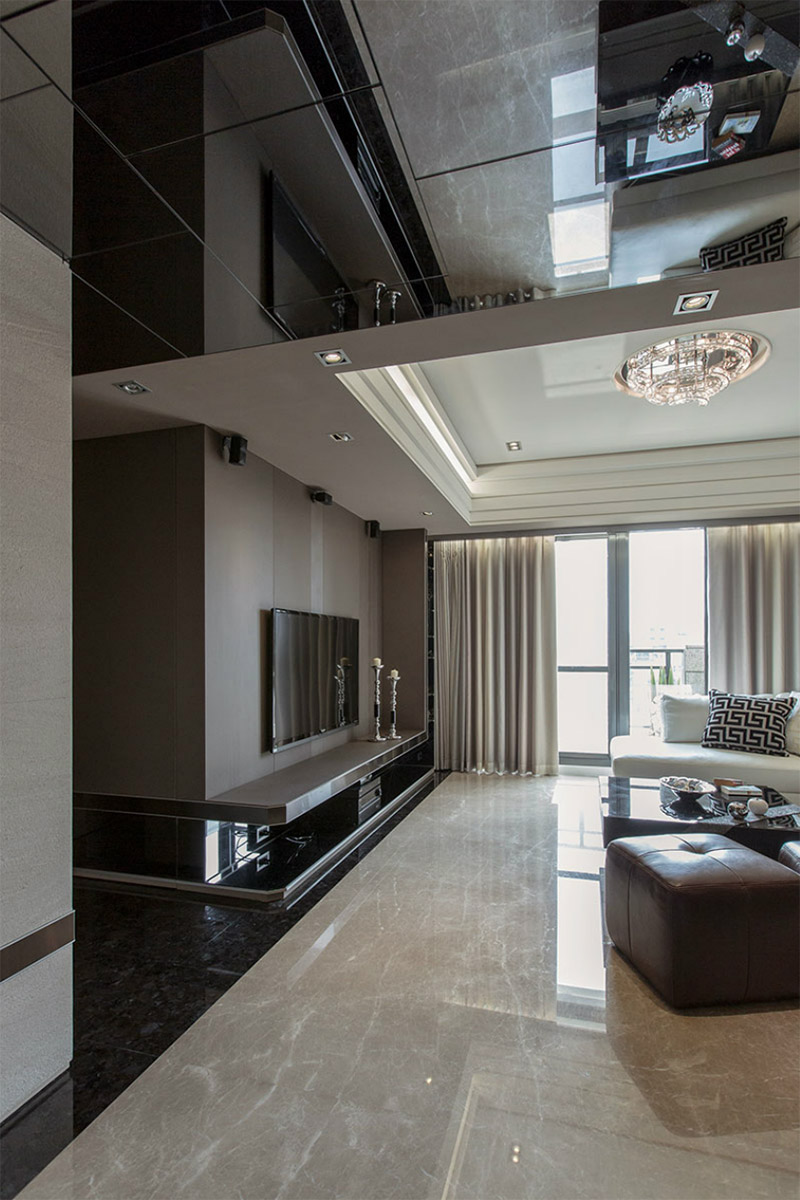 Luxury Apartment With Glossy Marble Floors And Carefully