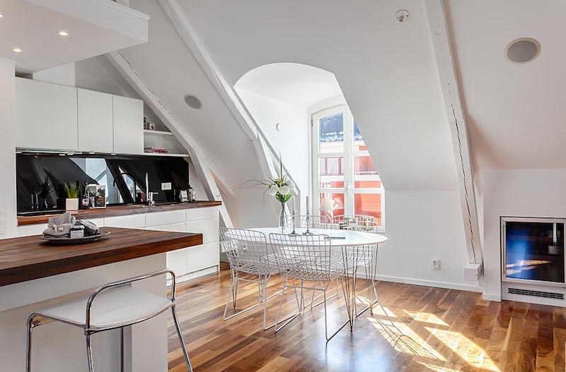 Attic Apartment In Stockholm