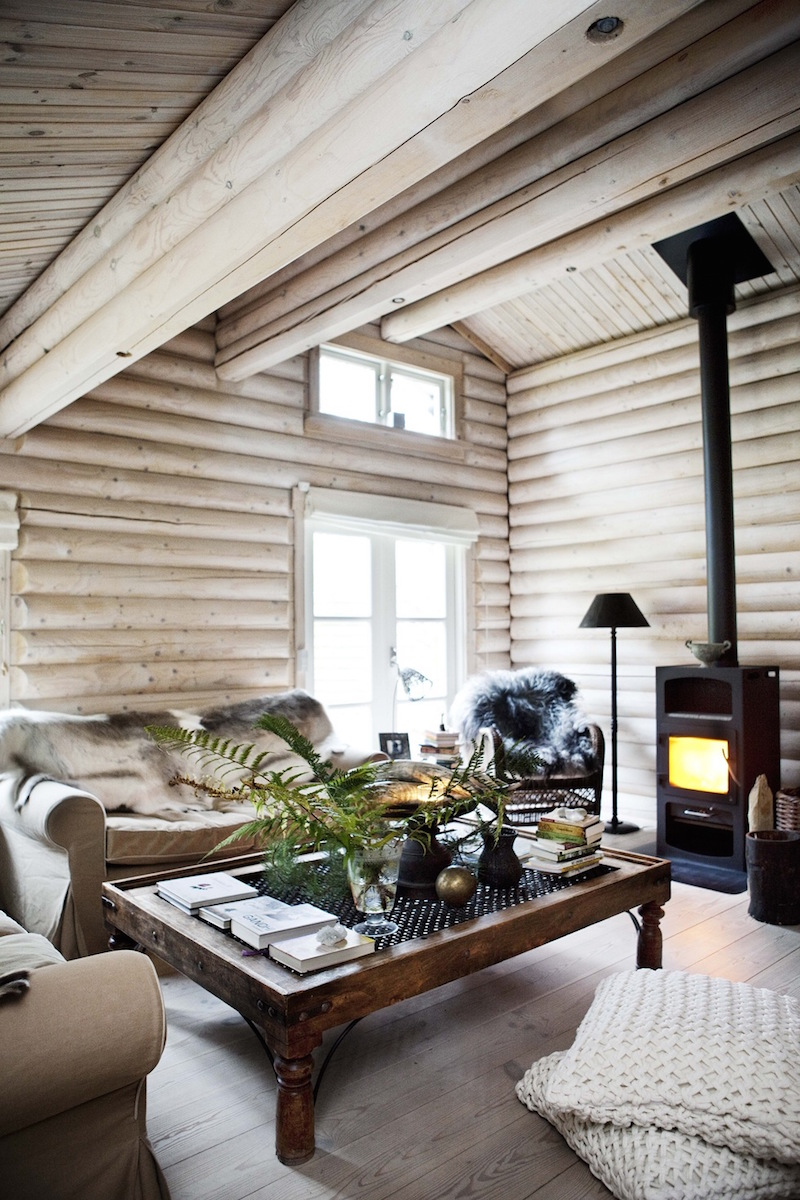 Black Stained Log Cabin In Danmark Hall Of Homes