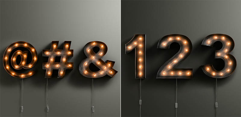 illuminated marquee letters numbers