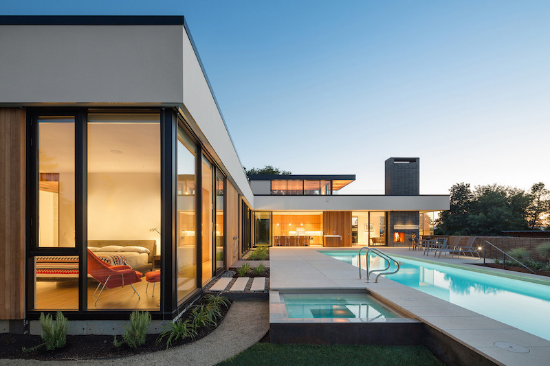 Contemporary architecture integrated with sustainable Modern house portland