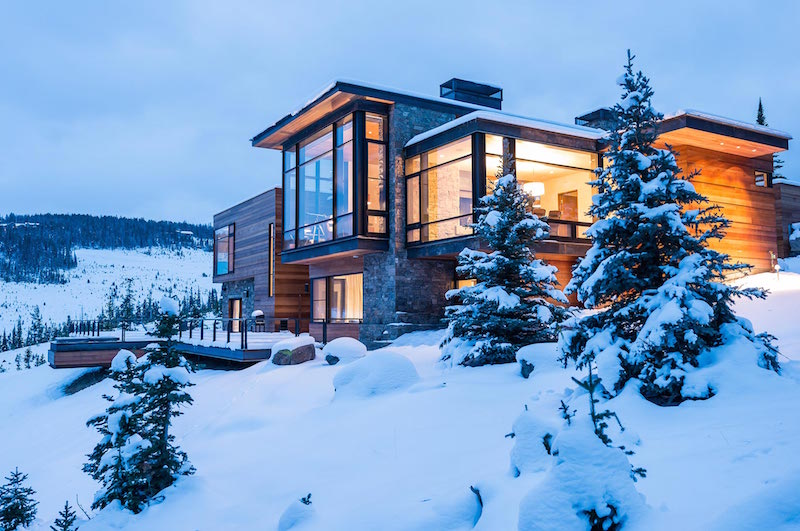 Modern Mountain Villa In Montana