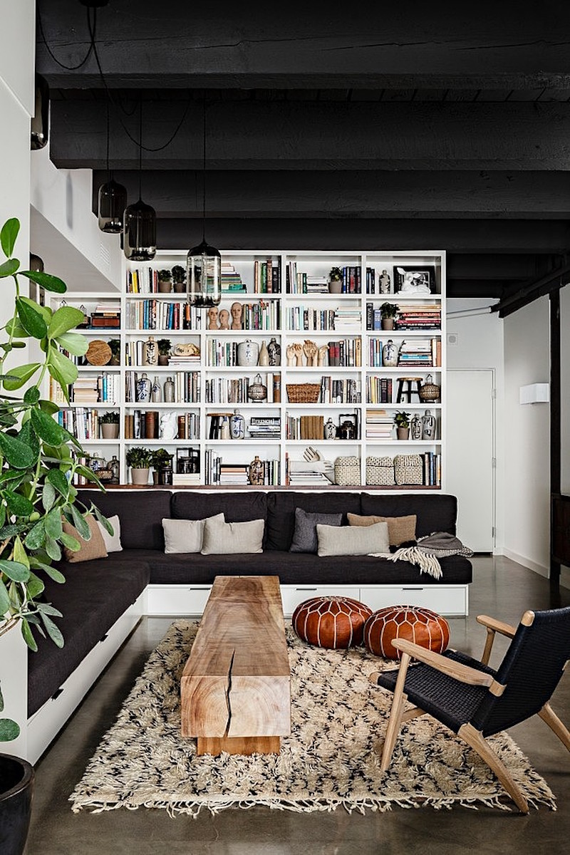 book-storage-in-loft-apartment-living-room
