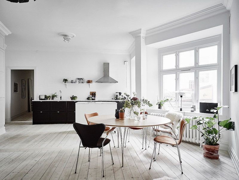 Light interior design defines the nordic style for Table inspiration scandinave