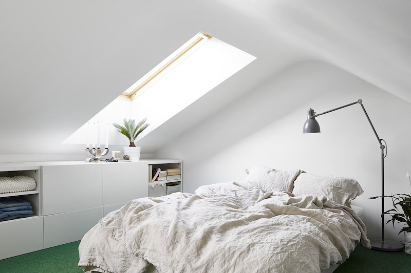 studio apartment with loft bedroom. Stylish studio apartment with a bedroom loft