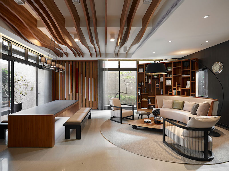 Taipei Home Yu Ya Ching Interior Design DiningTaipei Apartment Building  Lounge Area By Yu Ya Ching Interior Design