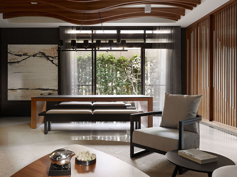 Taipei apartment building lounge area by yu ya ching interior design for Interior design images of home