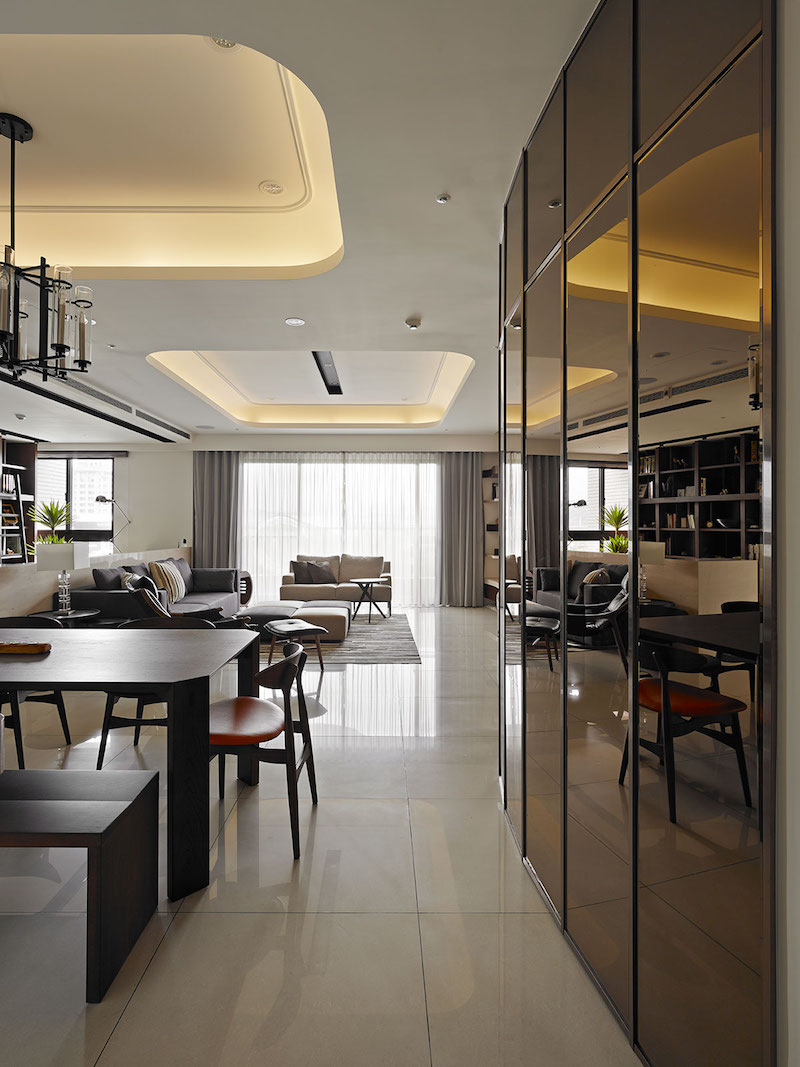 Hotel Room Floor Plan Design: Contemporary Taiwan Apartment Showing Luxury And