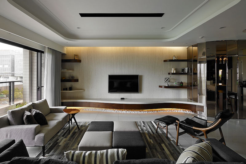 Contemporary Taiwan apartment showing luxury and simplicity in