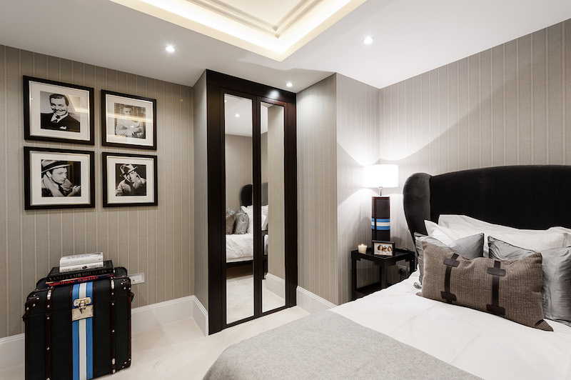 contemporary apartment interiors in london. Black Bedroom Furniture Sets. Home Design Ideas