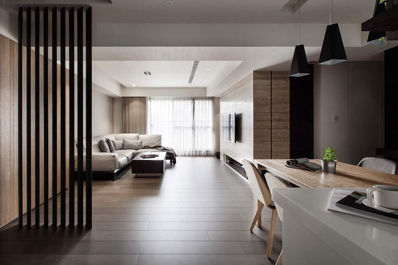 Interior harmony created by wood and contemporary style
