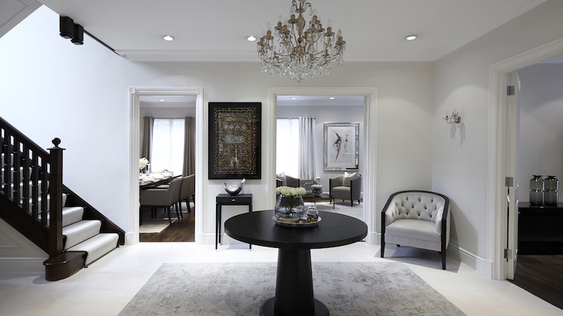 Luxury apartment design in london for Home interior design london