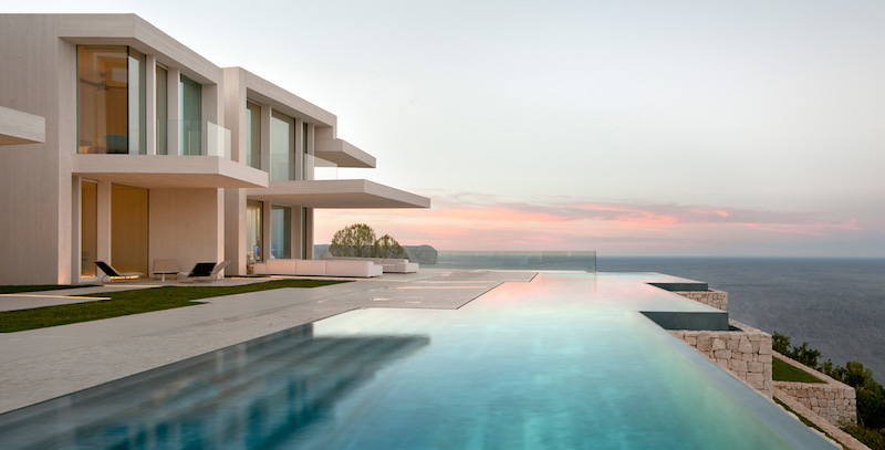Bon ... On The Top Of A Hillside Offering Spectacular Panoramic Views Over The  Mediterranean Sea. The Solid Yet Light Architecture Gives The House Its  Luxurious ...