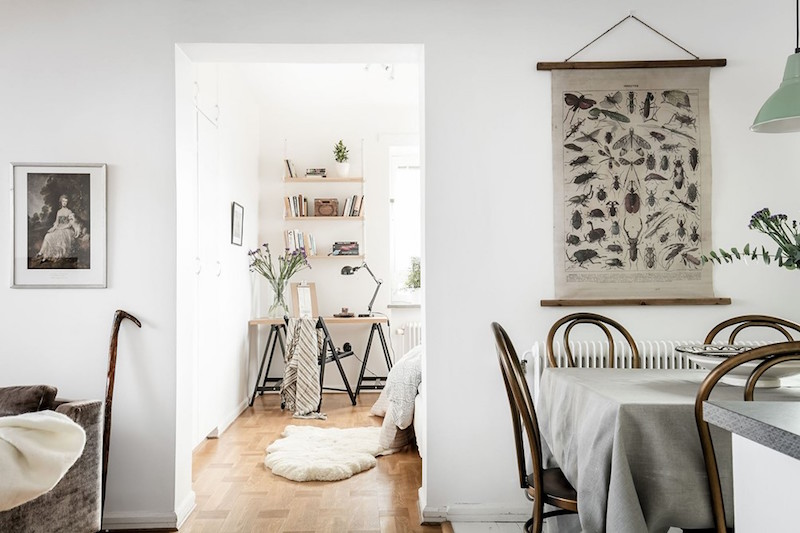 Modern vintage interior design in swedish apartment Vintage home architecture