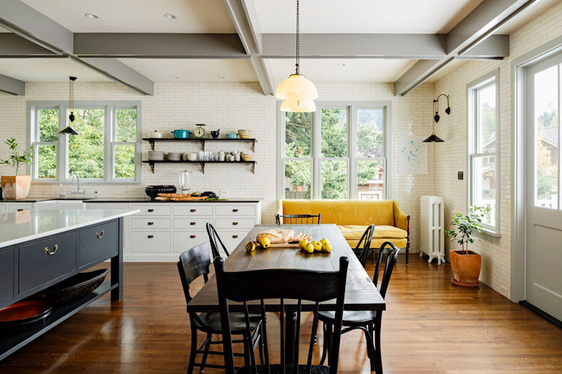 Victorian Style Kitchen With Catchy Details And Color Spots