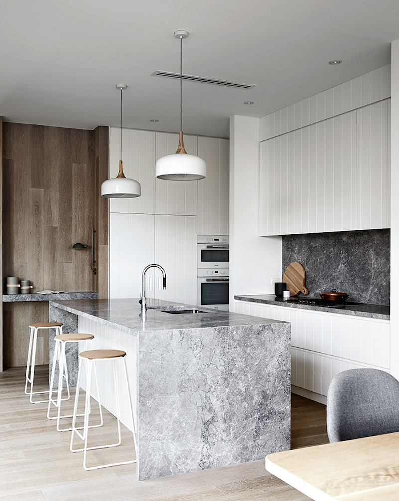 Kitchen Australia Coastal Home With Calm Symmetry And Harmony In Australia