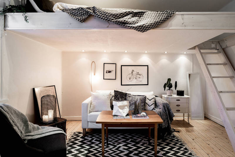 small apartment meets relaxed scandinavian design. Black Bedroom Furniture Sets. Home Design Ideas