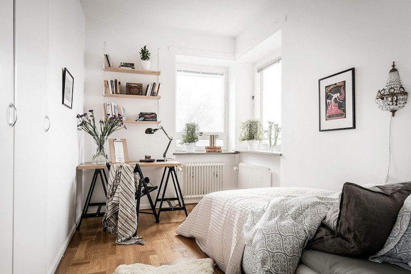 Modern vintage interior design in swedish apartment - Modern apartment interior design ...