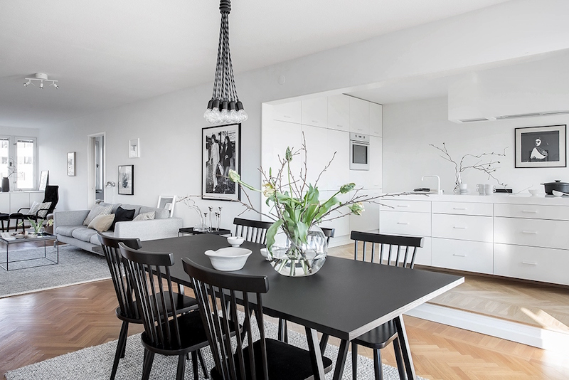 black-table-in-dining-room