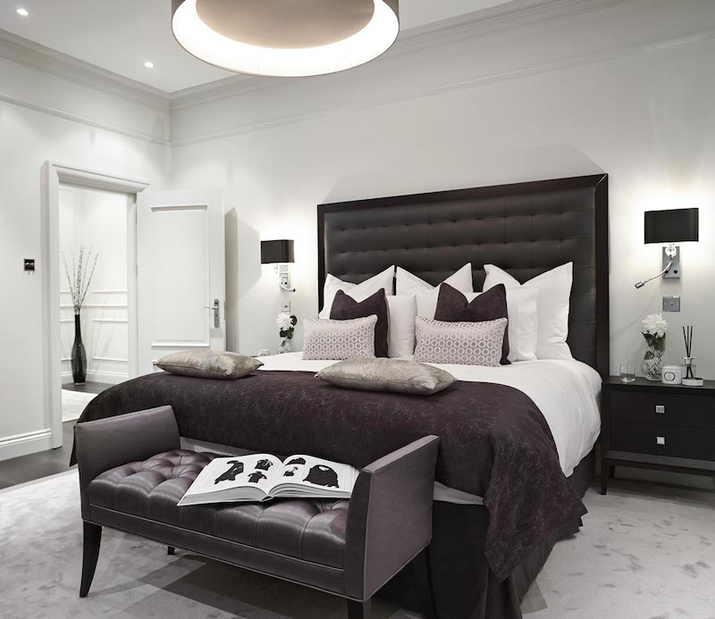 Apartment renovation in a victorian building in hampstead for Classy chic bedroom ideas