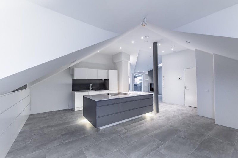 Contemporary Attic Apartment In Helsinki Waiting For
