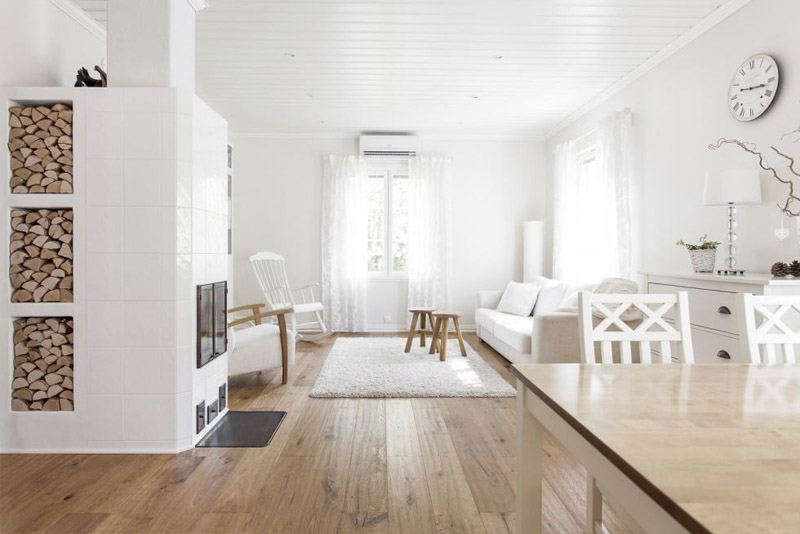 Wooden Country House Renovated With Fresh White