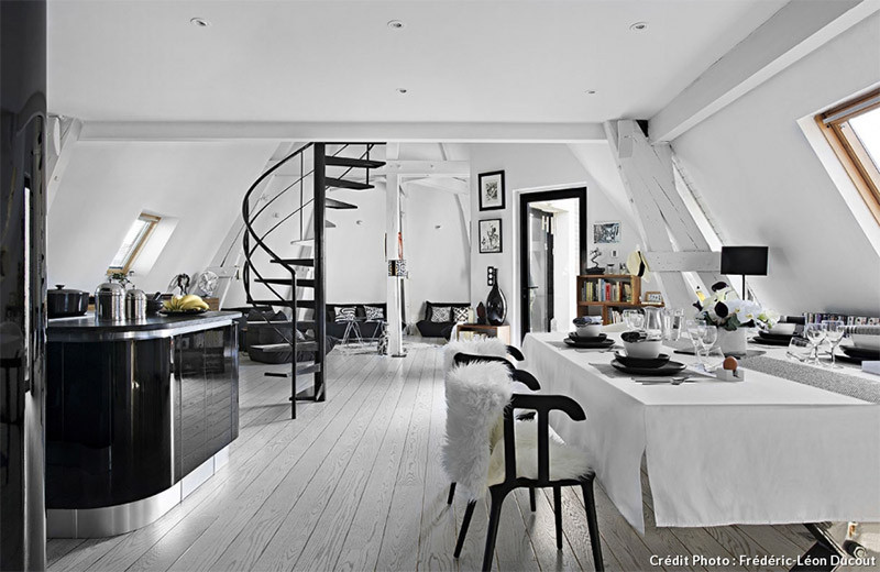Loft Style Penthouse In Paris