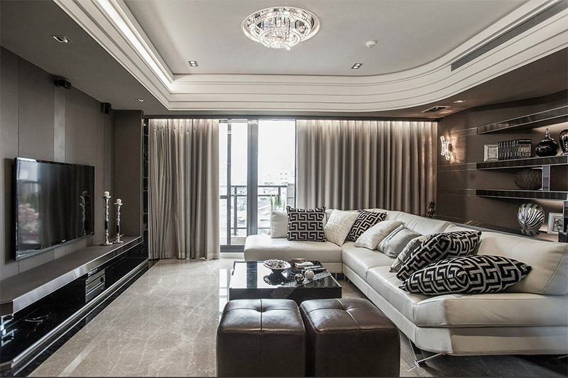 Luxury Apartment With Glossy Marble Floors And Carefully Designed Lighting Elements