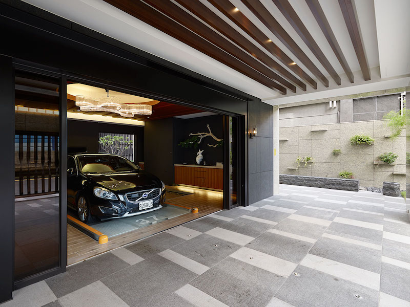 home garage design ideas - Taipei apartment building lounge area by Yu Ya Ching