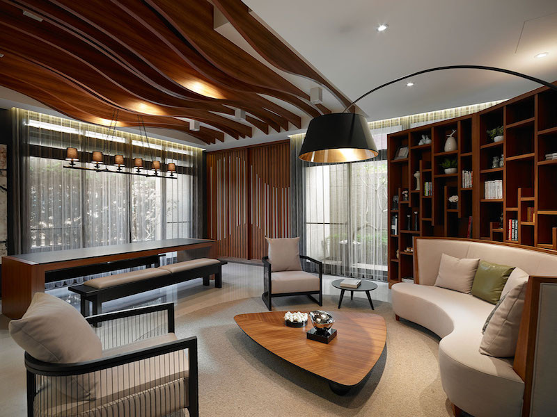 Taipei apartment building lounge area by yu ya ching interior design - Interior design onsquare meters solutions from taiwan ...