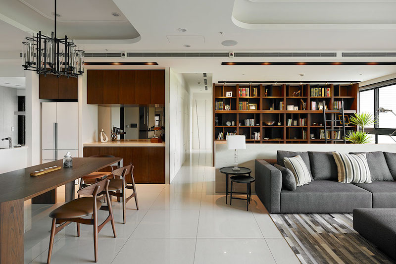 Contemporary Taiwan apartment showing luxury and ...