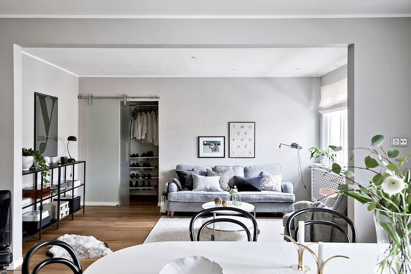 monochromatic living room monochromatic apartment with interesting decor details 10127