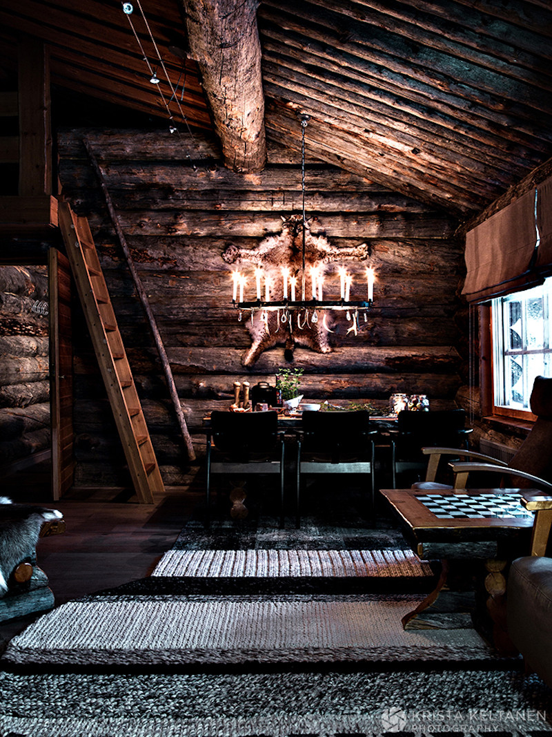 Warm Cottage Atmosphere Middle Of Finnish Winter