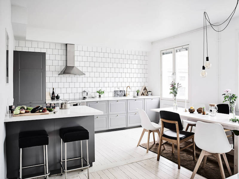 Scandinavian interior design trends with a nice colorful addition for Danish design home accessories