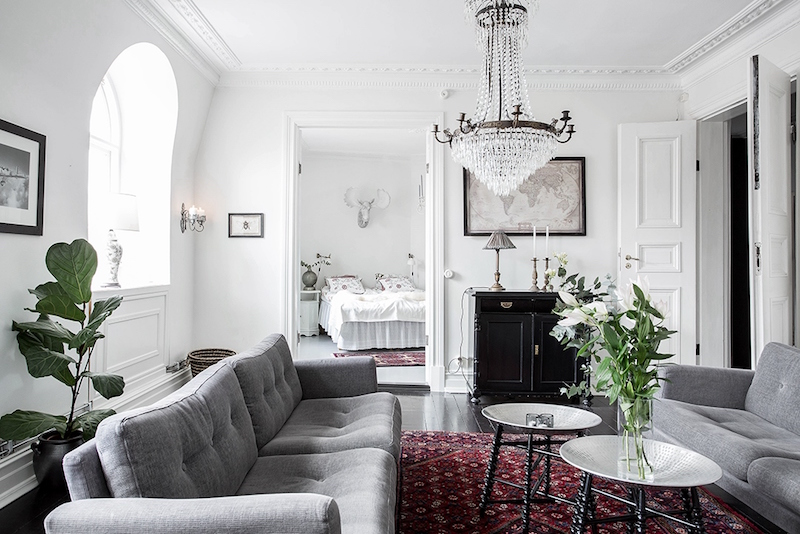 Scandinavian Home Design Combining White Black And Original Decor Details