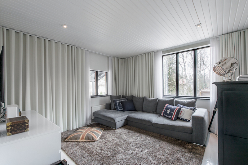 Scandinavian White Gray Interior Living Room