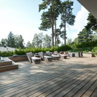 Luxurious modern FInnish home patio