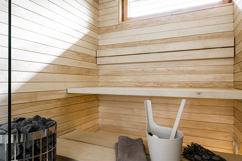 Finnish sauna with a calm style