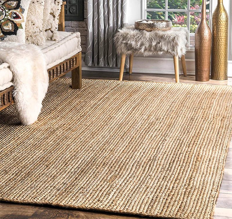 Jute rug natural color